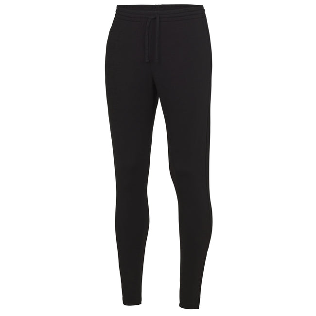 Jet Black - Front - AWDis Just Cool Mens Tapered Jogging Bottoms