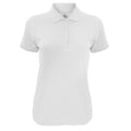 White - Front - B&C Womens-Ladies Safran Timeless Polo Shirt