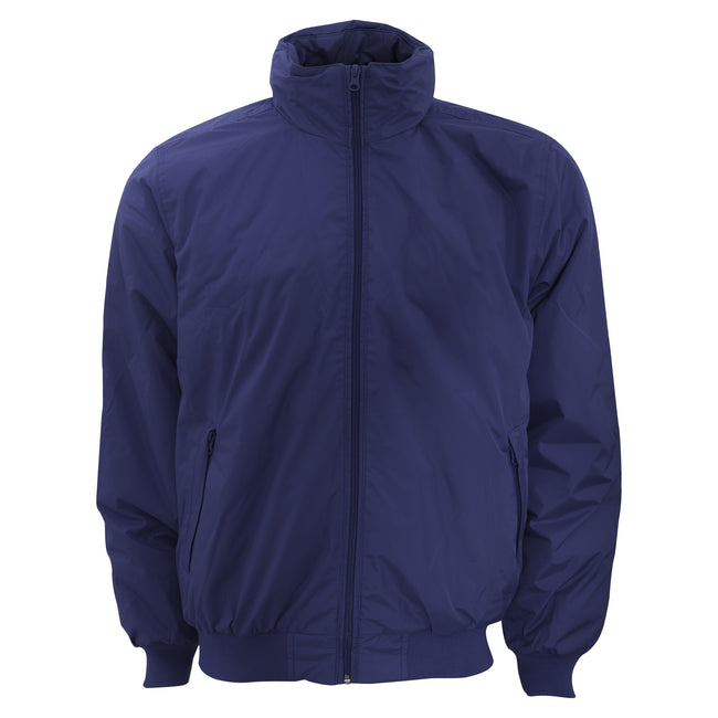 Navy- Warm Grey - Front - B&C Mens Padded Waterproof Crew Bomber