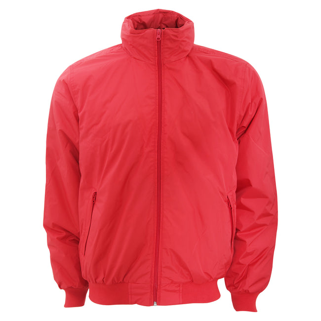 Red- Warm Grey - Front - B&C Mens Padded Waterproof Crew Bomber