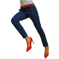 Royal - Front - Asquith & Fox Womens-Ladies Casual Chino Trousers