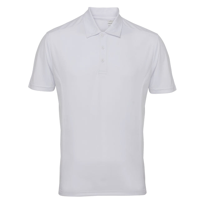White - Front - Tri Dri Mens Panelled Short Sleeve Polo Shirt