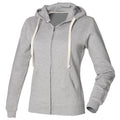 Heather Grey - Front - Front Row Womens-Ladies Zip Through Hooded Sweatshirt - Hoodie