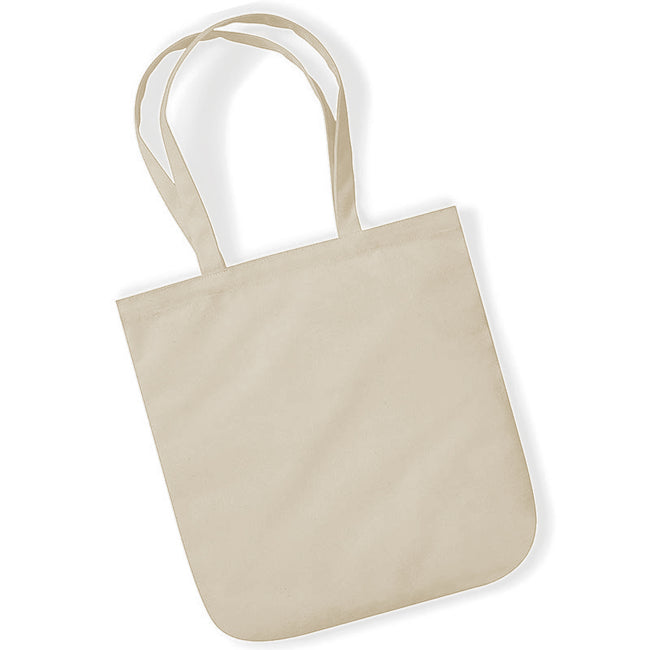 Natural - Back - Westford Mill EarthAware Organic Cotton Spring Tote Bag