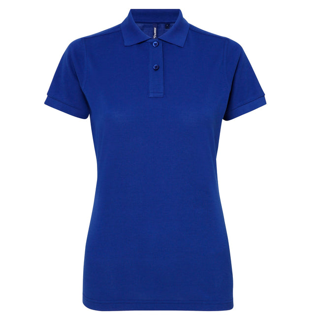 Purple - Front - Asquith & Fox Womens-Ladies Short Sleeve Performance Blend Polo Shirt