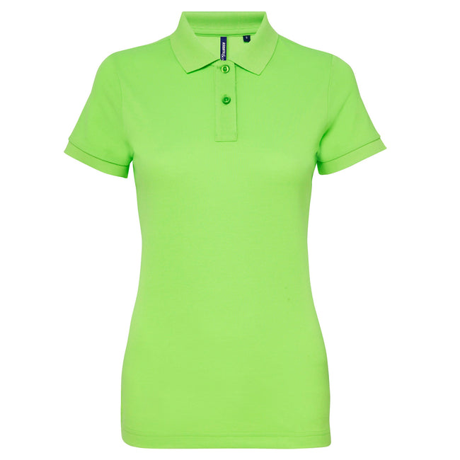 Slate - Front - Asquith & Fox Womens-Ladies Short Sleeve Performance Blend Polo Shirt