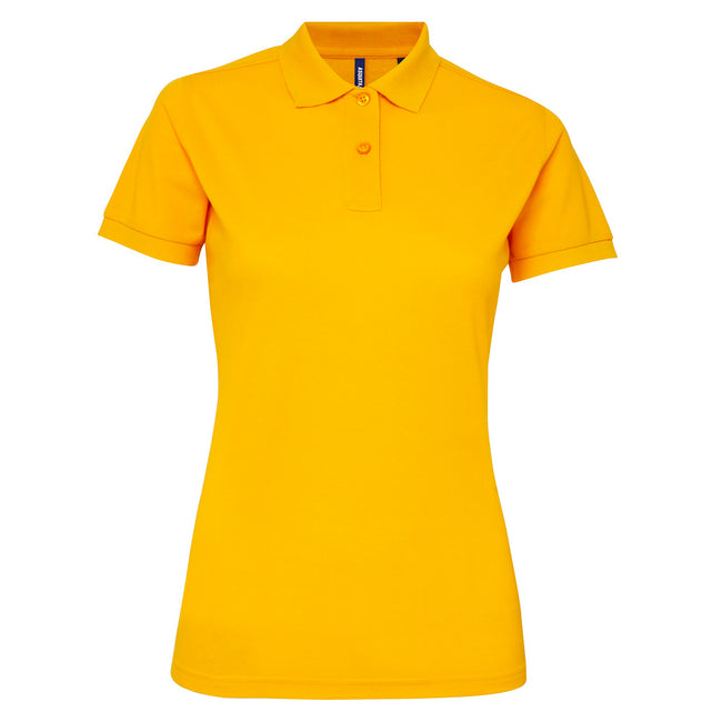 Orange - Back - Asquith & Fox Womens-Ladies Short Sleeve Performance Blend Polo Shirt