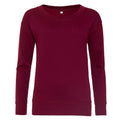 Burgundy - Front - AWDis Hoods Womens-Ladies Girlie Fashion Sweatshirt