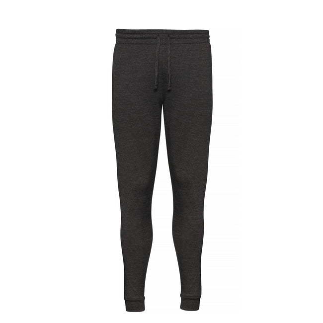 Charcoal - Front - AWDis Hoods Mens Tapered Track Pants