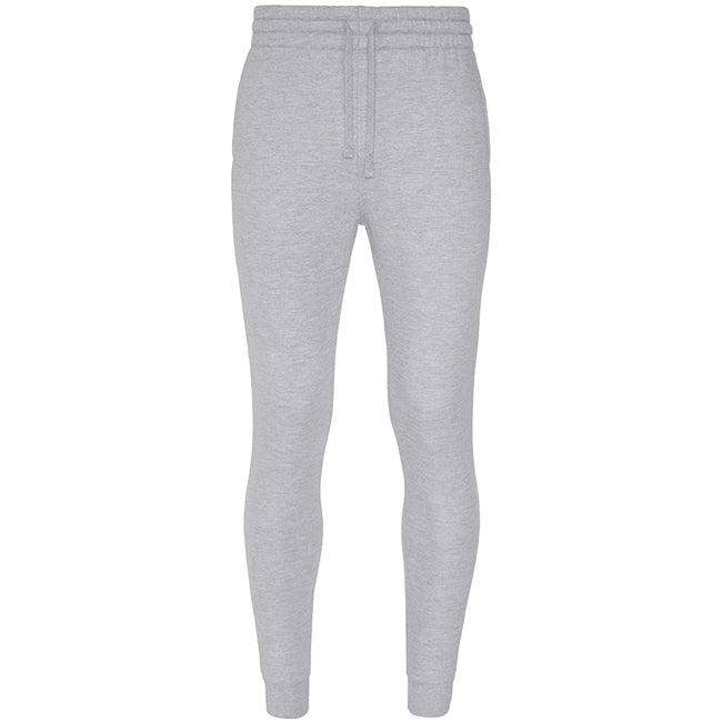 Heather Grey - Front - AWDis Hoods Mens Tapered Track Pants