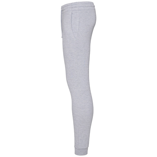 Heather Grey - Back - AWDis Hoods Mens Tapered Track Pants