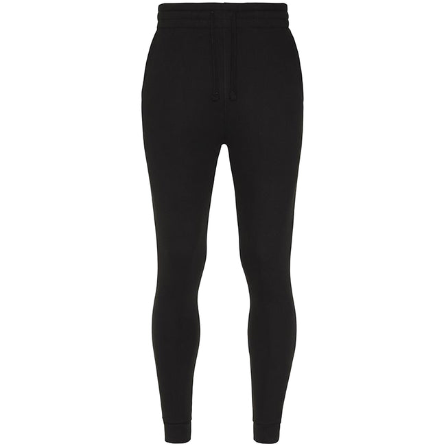 Jet Black - Front - AWDis Hoods Mens Tapered Track Pants