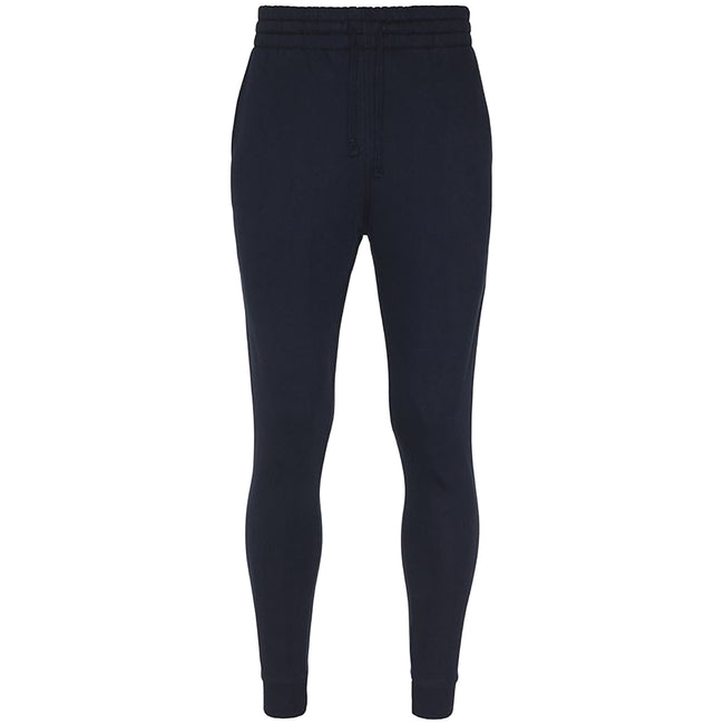 New French Navy - Front - AWDis Hoods Mens Tapered Track Pants