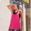 Neon Pink - Pack Shot - Skinni Fit Womens-Ladies Fashion Workout Sleeveless Vest