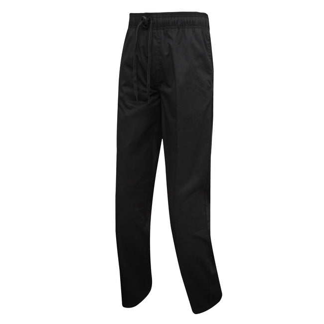 Black - Front - Premier Mens Chefs Select Slim Leg Trousers