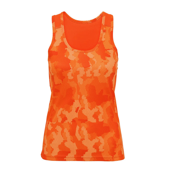 Camo Sapphire - Back - Tri Dri Womens-Ladies Hexoflage Performance Sleeveless Vest