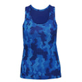 Camo Charcoal - Front - Tri Dri Womens-Ladies Hexoflage Performance Sleeveless Vest