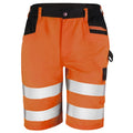 Orange - Front - Result Core Mens Reflective Safety Cargo Shorts