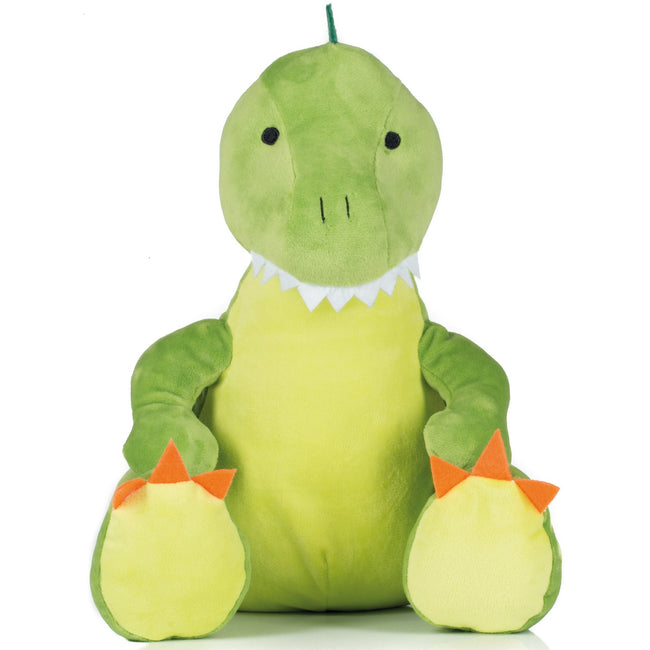 Green - Front - Mumbles Childrens-Kids Zippie Plush Dinosaur Toy