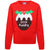 Red - Front - Christmas Shop Childrens-Kids Little Pudding Jumper