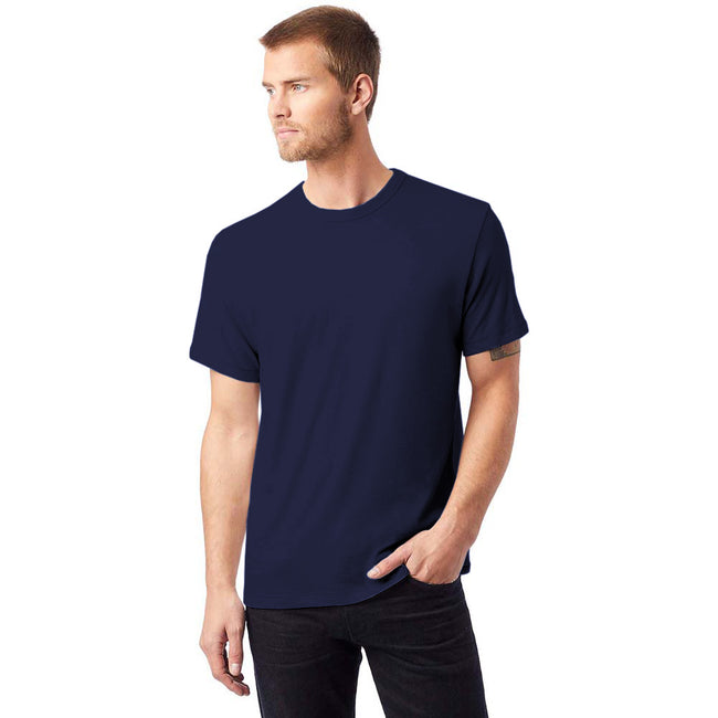 Navy - Back - Alternative Apparel Mens Vintage 50-50 T-shirt