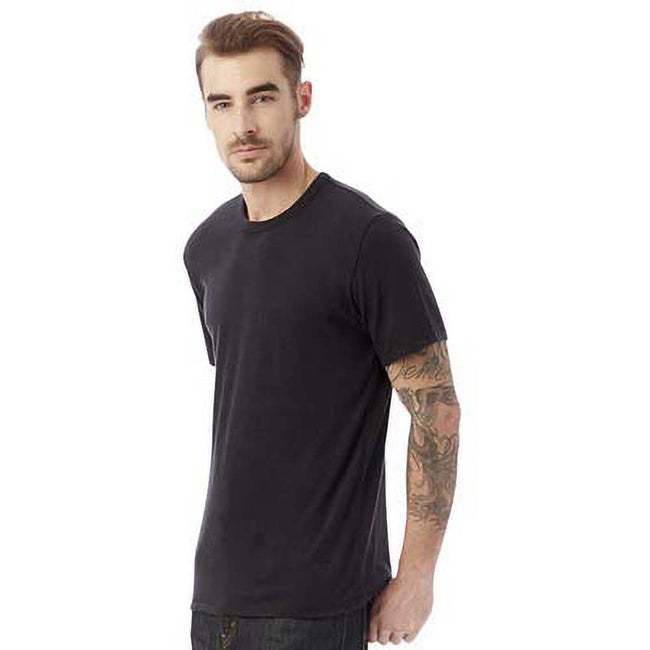 Black - Back - Alternative Apparel Mens Vintage 50-50 T-shirt