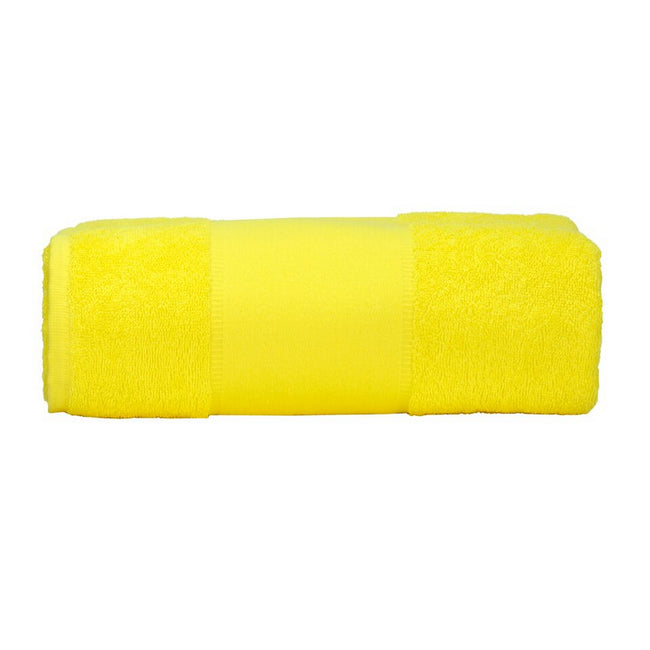 Bright Yellow - Front - A&R Towels Print-Me Big Towel
