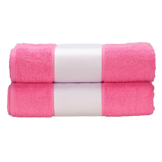 Pink - Front - A&R Towels Subli-Me Bath Towel