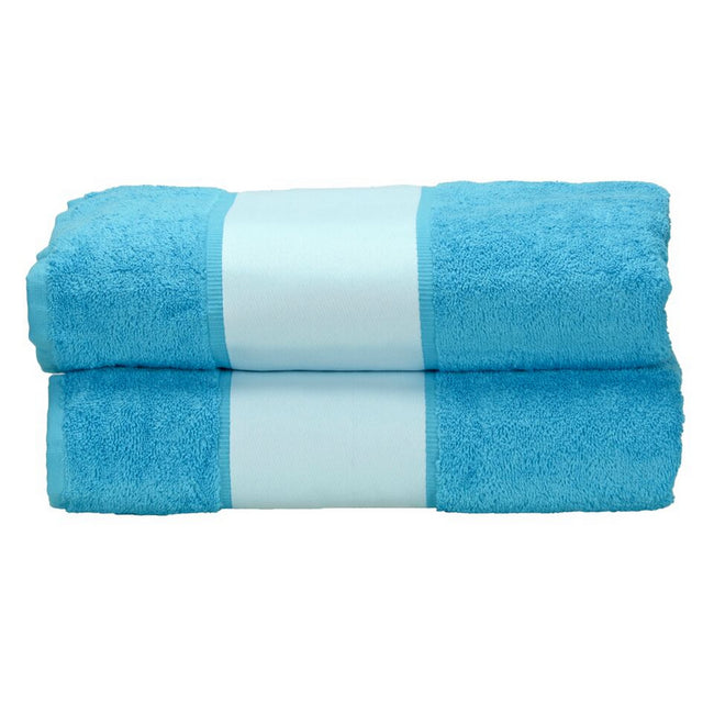 Aqua Blue - Front - A&R Towels Subli-Me Bath Towel