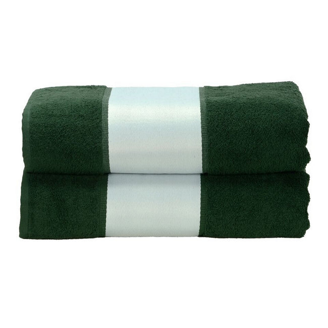 Dark Green - Front - A&R Towels Subli-Me Bath Towel