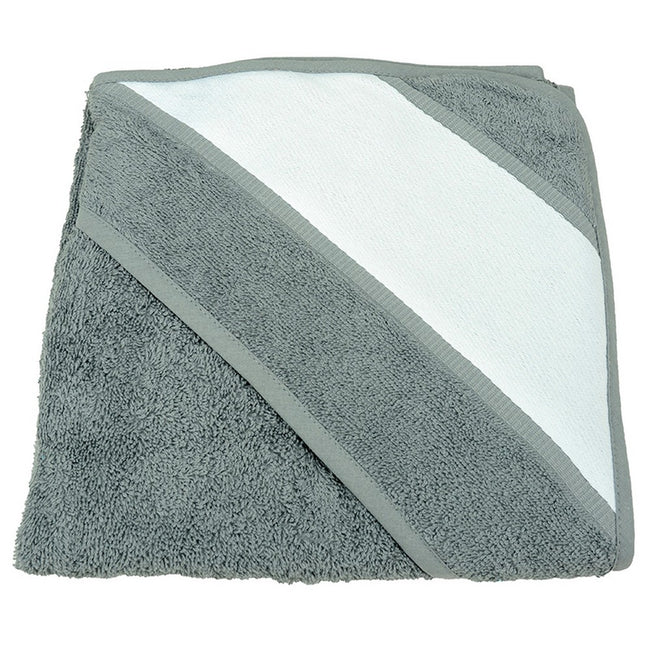 Anthracite Grey - Front - A&R Towels Baby-Toddler Babiezz Sublimation Hooded Towel