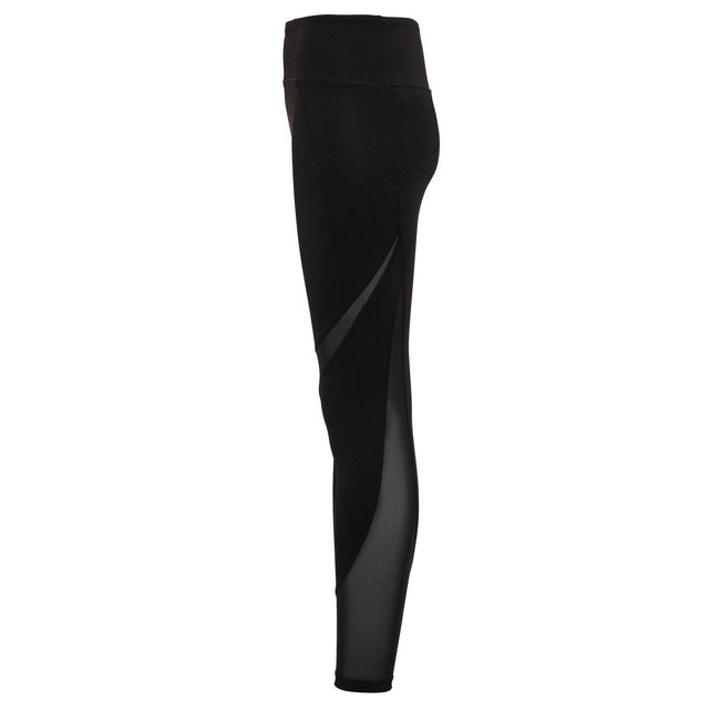 Navy - Front - TriDri Womens-Ladies Mesh Tech Panel Full-Length Leggings