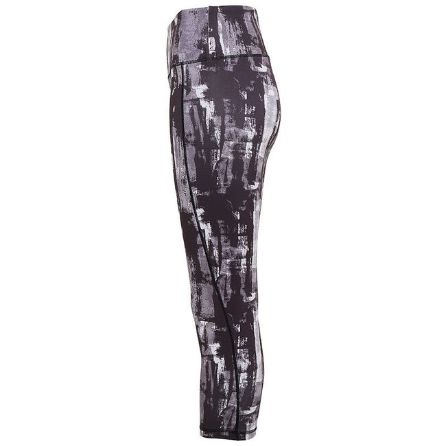 Charcoal - Back - TriDri Womens Performance Sunset 3-4 Length Leggings