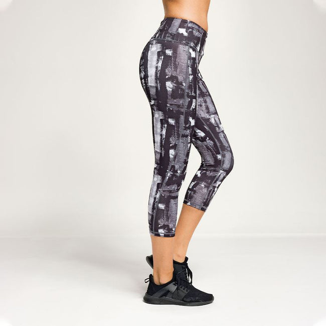 Charcoal - Side - TriDri Womens Performance Sunset 3-4 Length Leggings