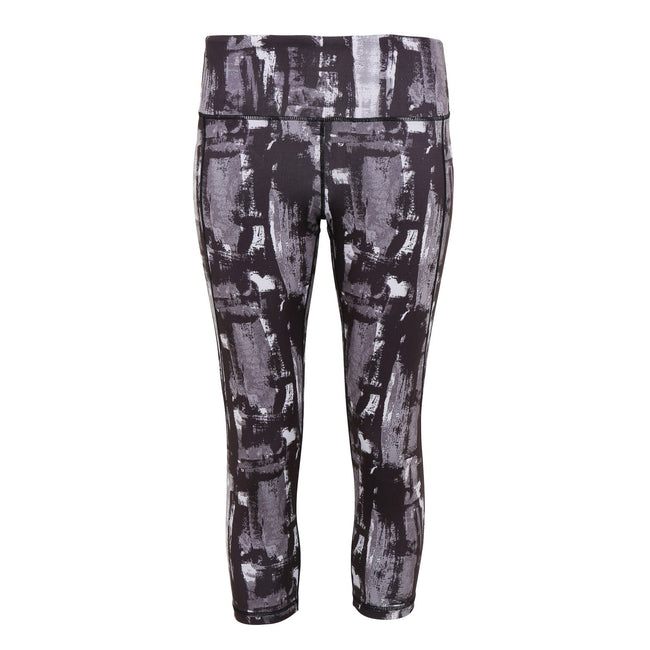 Charcoal - Front - TriDri Womens Performance Sunset 3-4 Length Leggings