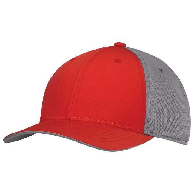 High-Res Red - Front - Adidas Unisex Adults ClimaCool Tour Crestable Cap