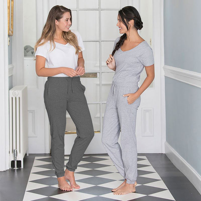 Charcoal - Back - Comfy Co Womens-Ladies Sleepy Pants