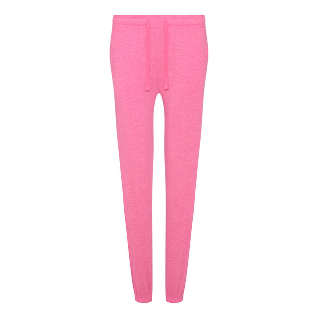 Pink Marl - Front - Comfy Co Womens-Ladies Sleepy Pants