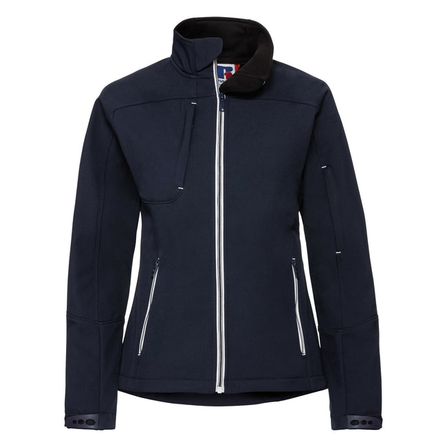 French Navy - Front - Russell Women-Ladies Bionic Softshell Jacket