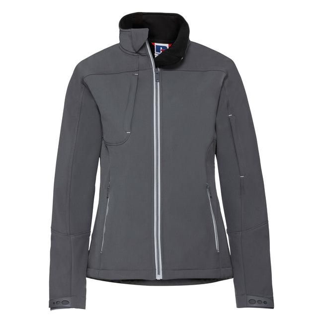 Iron Grey - Front - Russell Women-Ladies Bionic Softshell Jacket