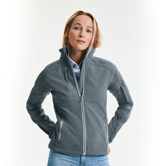 Iron Grey - Side - Russell Women-Ladies Bionic Softshell Jacket