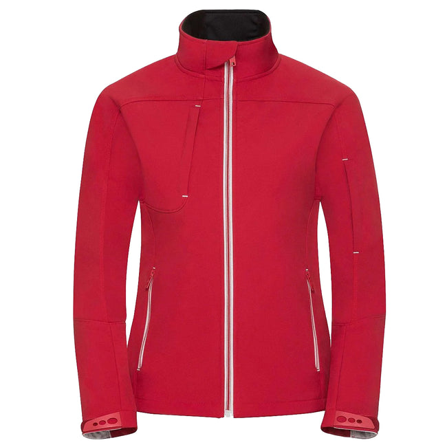 Classic Red - Front - Russell Women-Ladies Bionic Softshell Jacket