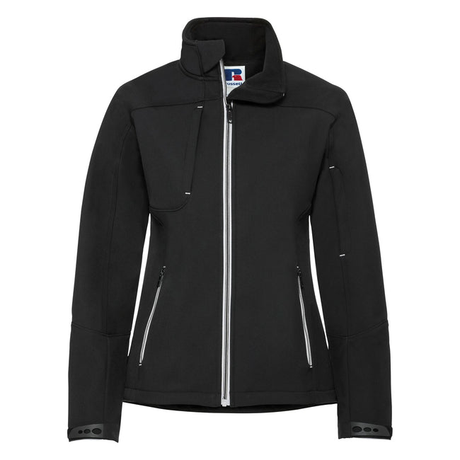 Black - Front - Russell Women-Ladies Bionic Softshell Jacket