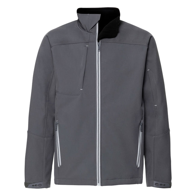 Iron Grey - Front - Russell Mens Bionic Softshell Jacket