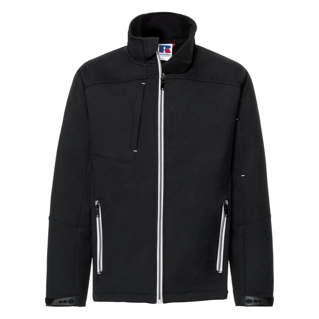 Black - Front - Russell Mens Bionic Softshell Jacket