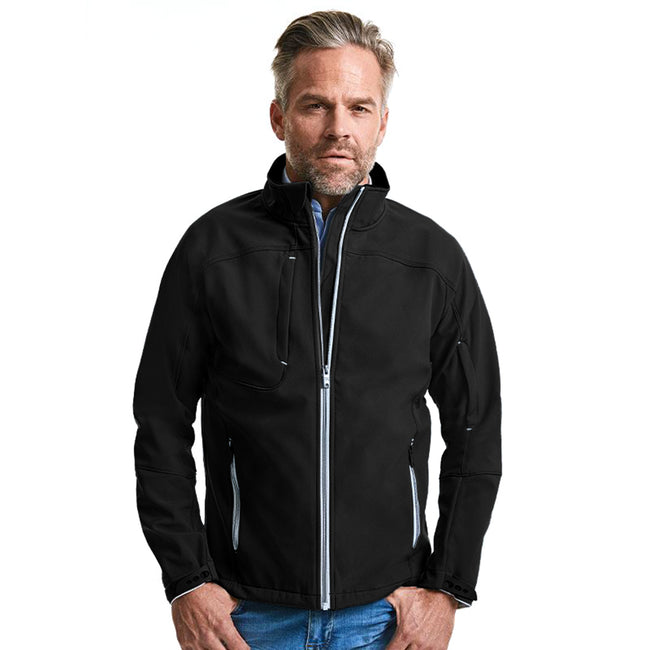 Black - Back - Russell Mens Bionic Softshell Jacket