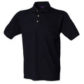 Lime - Front - Henbury Mens Classic Plain Polo Shirt With Stand Up Collar