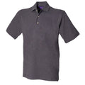 Yellow - Back - Henbury Mens Classic Plain Polo Shirt With Stand Up Collar