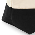 Natural-Black - Side - Westford Mill Dipped Base Canvas Accessory Bag