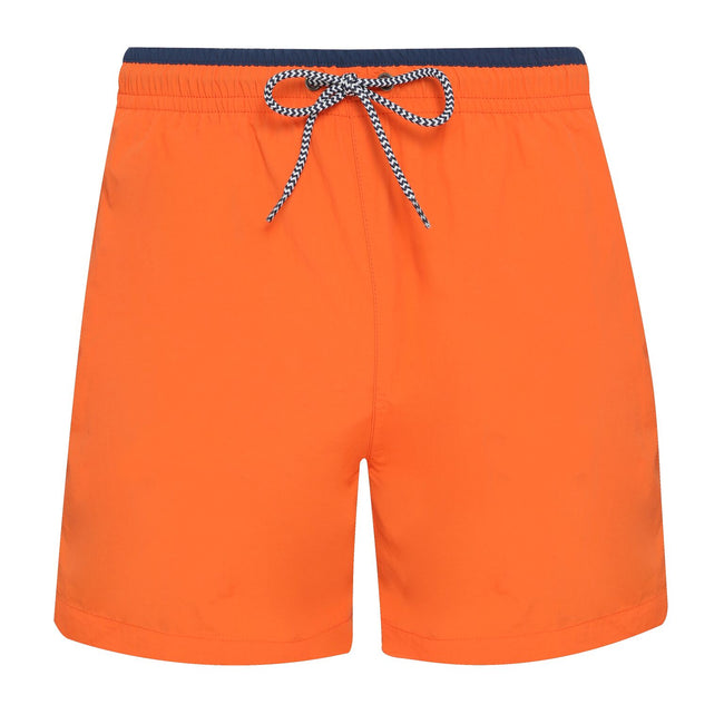 Navy-Red - Back - Asquith & Fox Mens Swim Shorts